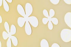 Glass Flower design on golden wall  Stock Images