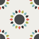 Flower design wallpaper. Stock Photography