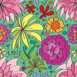 Flower different seamless pattern Royalty Free Stock Photo