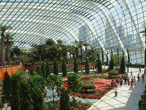Flower Dome. Is located at Gardens By The Bay, Singapore Royalty Free Stock Photography