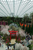 Flower Dome conservatory at the Gardens by the Bay Stock Image
