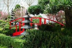 Flower Dome conservatory at the Gardens by the Bay Royalty Free Stock Image