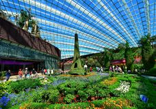 Flower Dome, Gardens by the Bay, Singapore Stock Images