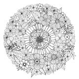 Flower doodle drawing freehand  Royalty Free Stock Images