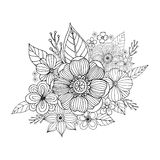 Flower doodle drawing freehand Royalty Free Stock Photography
