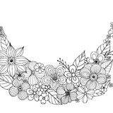 Flower doodle drawing freehand Stock Image