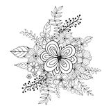 Flower doodle drawing freehand  Stock Photos