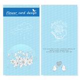 Flower doodle vector card designs background Stock Photo