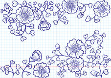 Flower Doodles Stock Photo