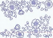 Flower doodles Stock Photo