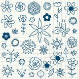 Flower doodles Stock Photography