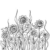 Flower doodles Stock Image