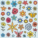 Flower doodles Royalty Free Stock Photography