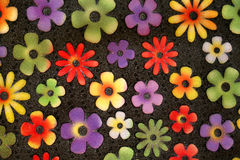 Flower door mat. Colorful door mat Royalty Free Stock Image