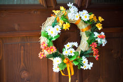 Flower door wreath Royalty Free Stock Photos
