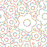Flower dot colorful seamless pattern Royalty Free Stock Photos