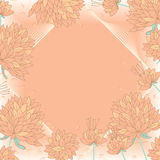 Flower draw growth frame. Illustration frame flowers drawing growth frame graphic template Stock Photo