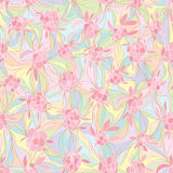 Flower draw style seamless pattern Stock Photography