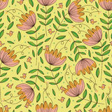 Flower drawing isolated sense seamless pattern Stock Image
