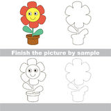 Flower. Drawing worksheet. Stock Photography