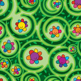 Flower dream swirl seamless pattern Stock Image