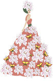 The flower dress Royalty Free Stock Photos