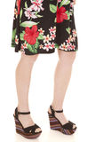 Flower dress legs side Royalty Free Stock Image