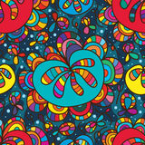 Flower drop colorful seamless pattern Stock Photography