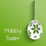 Flower easter egg background Stock Image