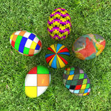 Flower of Easter eggs on grass Stock Photography