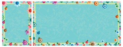 Flower effect color frame set Stock Photo