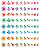 Flower effect color set Royalty Free Stock Images