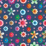 Flower effect symmetry seamless pattern Royalty Free Stock Photography