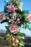 Flower and egg cross. Flowr and egg cross at a wedding Stock Photo