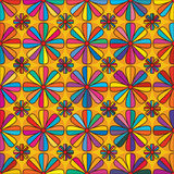 Flower eight edge colorful seamless pattern Stock Photos