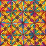 Flower eight edge colorful seamless pattern Stock Photos