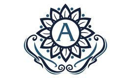 Flower Elegance Initial A. Logo Design Template Vector Royalty Free Stock Photos