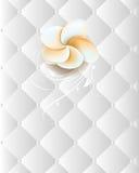Flower on an elegant seamless chrome background Stock Images
