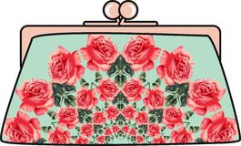 Flower elegant women clutch Royalty Free Stock Images