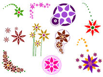 Flower Elements Royalty Free Stock Images