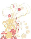 Flower elements. Vector illustration of flower decoration Stock Images