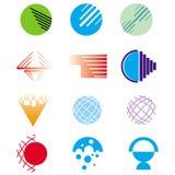 Logo Elements Design. Set of isolated globe logo designs Stock Photo