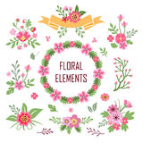 Flower elements. Royalty Free Stock Images
