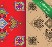 Asian or Indian seamless vector patterns. Royalty Free Stock Photos