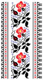 Flower embroidery Royalty Free Stock Image