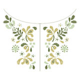 Flower embroidery  artwork design for neckline fashion clothing Stock Images