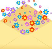 Flower envelope Royalty Free Stock Images