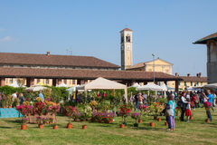 Flower event in cusago milan lombardy italy Stock Image