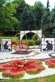 Flower exhibition `Japan through the eyes of Ukraine` at Spivoche Pole in Kyiv, Ukraine Royalty Free Stock Image