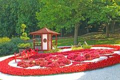 Flower exhibition `Japan through the eyes of Ukraine` at Spivoche Pole in Kyiv, Ukraine stock image